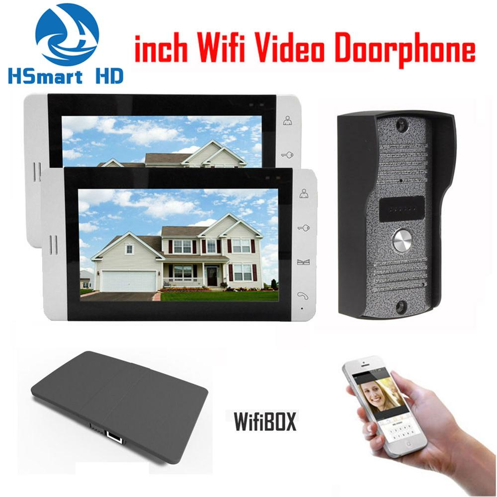 7 inch LCD Monitor 700TVL IR Camera Wireless WiFi IP Video Doorphone 1V2 Video Intercom Doorbell Support 3G 4G Smart Phone APP jex 10 inch lcd video intercom doorphone doorbell speaker intercom system kit 4 monitor 700tvl ir camera 1v4 in stock