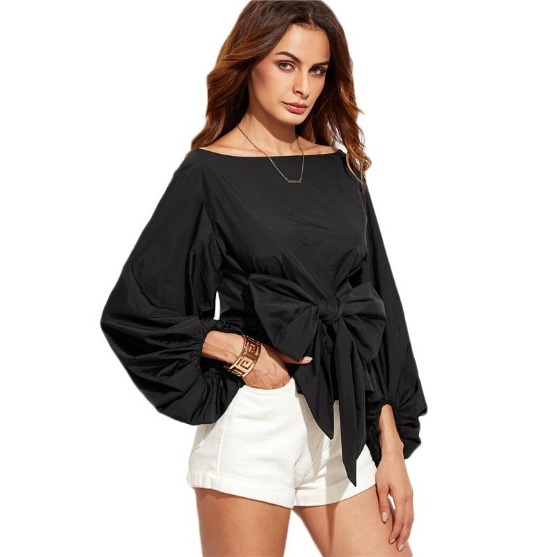 HTB1r4KkNVXXXXboaXXXq6xXFXXX6 - Shirts Women Tops Long Sleeve Lantern Sleeve Blouse