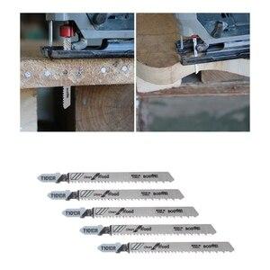 Image 3 - 5 Pcs T101BR HCS 100mm Jigsaw Klingen Sauber Für Holz Laminiert Bord Schneiden
