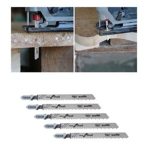 Image 3 - 5 Pcs T101BR Hcs 100 Mm Decoupeerzaagbladen Schoon Voor Hout Gelamineerd Board Snijden