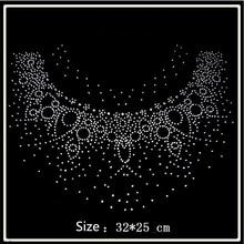 32 25cm Round collar hotfix rhinestones motif heat transfer iron on patch  garment accesspries patch 3e886ca8b50d