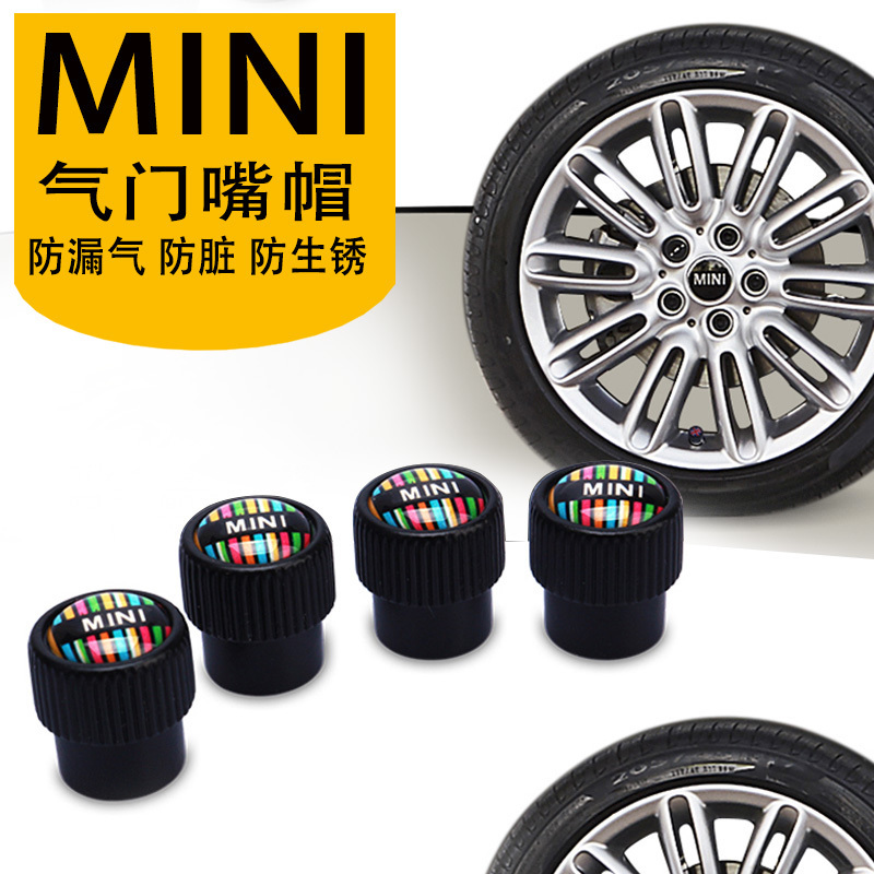1set=4pcs car valve cover Tire refit individual cap car styling Valve protective cover stickers for BMW MINI cooper coutryman