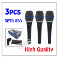 3pcs wholesale High Quality Beta 87A Clear Sound Handheld Wired Karaoke Microphone