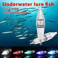 Señuelo lámpara de peces Universal que atrae Flash de caída profunda 15cm impermeable aparejos de pesca luz estroboscópica bajo el agua|strobe underwater|strobe light|strobe flash light -