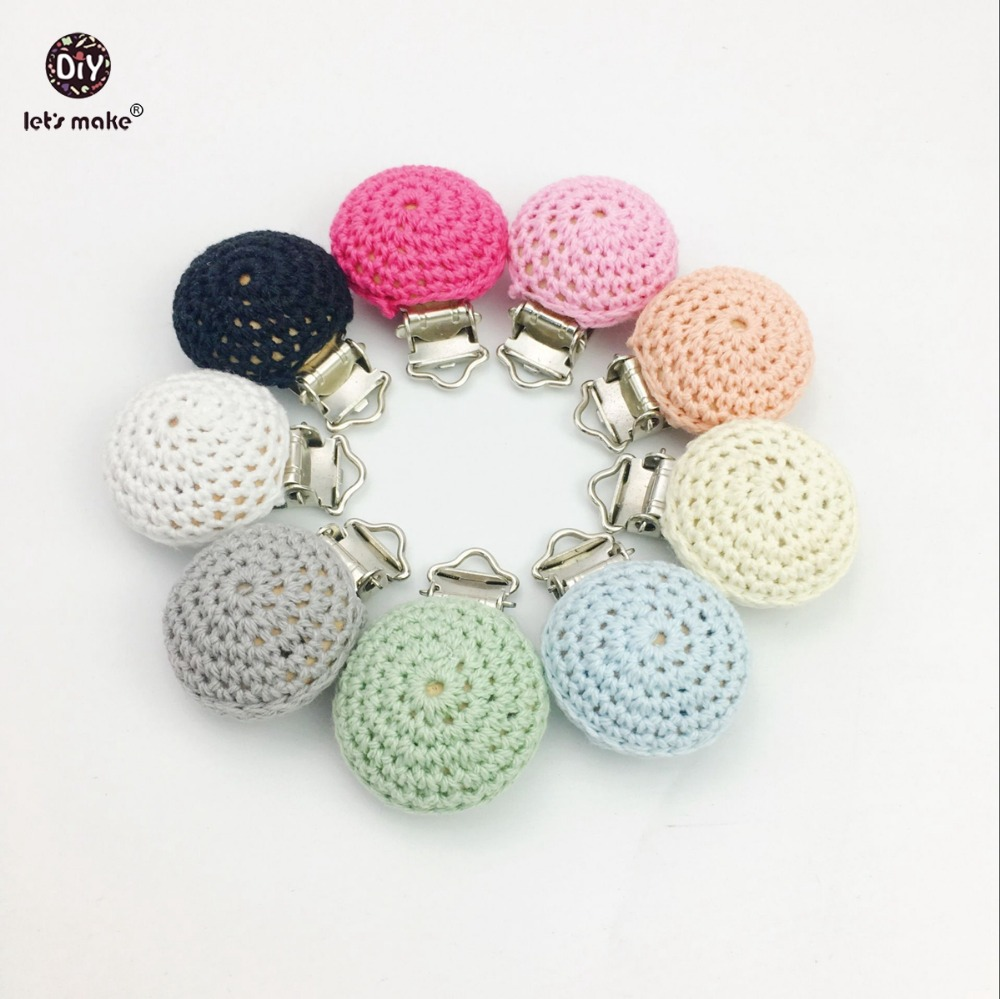 Let s Make Baby Accessories Crochet Pacifier 50pc Small Size Metal Dummy Wooden Teether DIY Clips