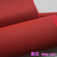 Deep Red PU Leather Faux Leather Fabric Imitation Leather Car Interior Leather Car Seats Sold BTY