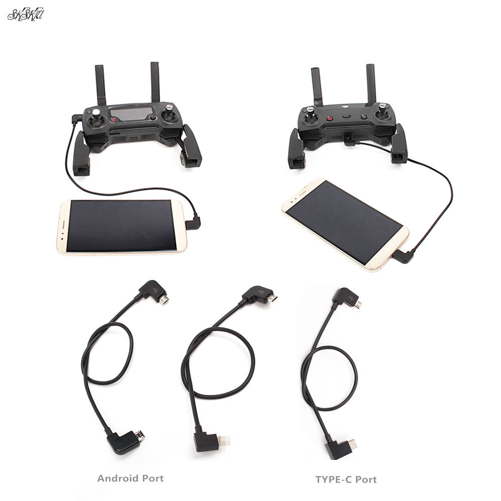 Remote Control Data Cable Connecting Phone Tablet Connector For IOS Android TYPE-C Port Line For DJI Mavic Pro Air / SPARK