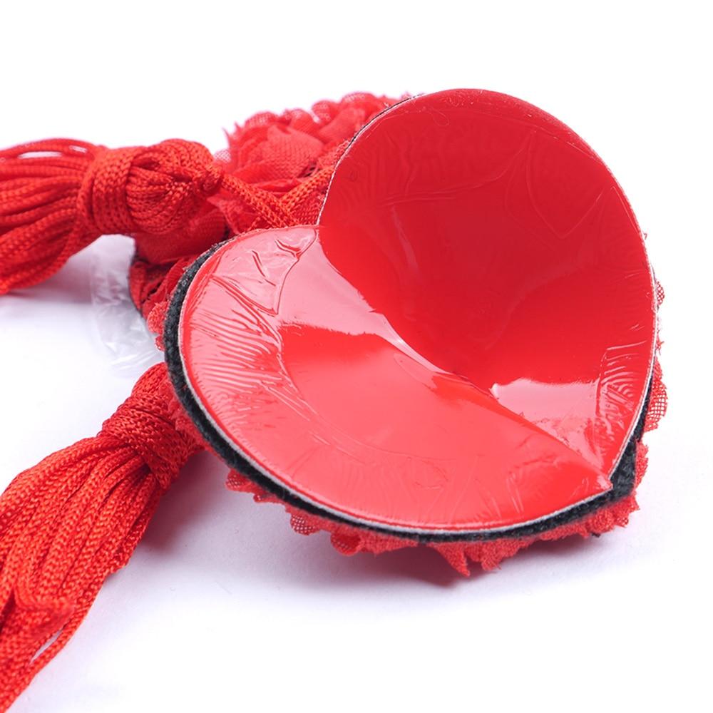 2Pcsset Sexy Self Adhesive Lingerie Sequin Tassel Nipple -1098