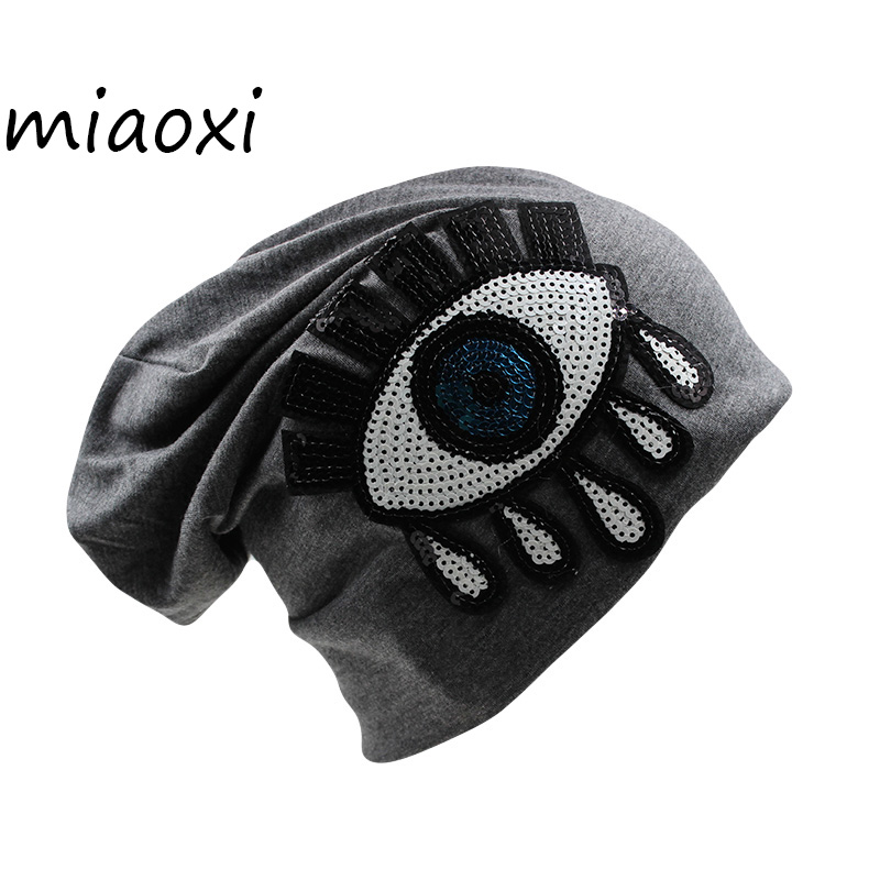[miaoxi] High Quality Girls Autumn Cap Women Thin Eye Fashion Hats Caps Ladies 5 Colors Beanies Skullies Shop Fur Cotton Bonnet