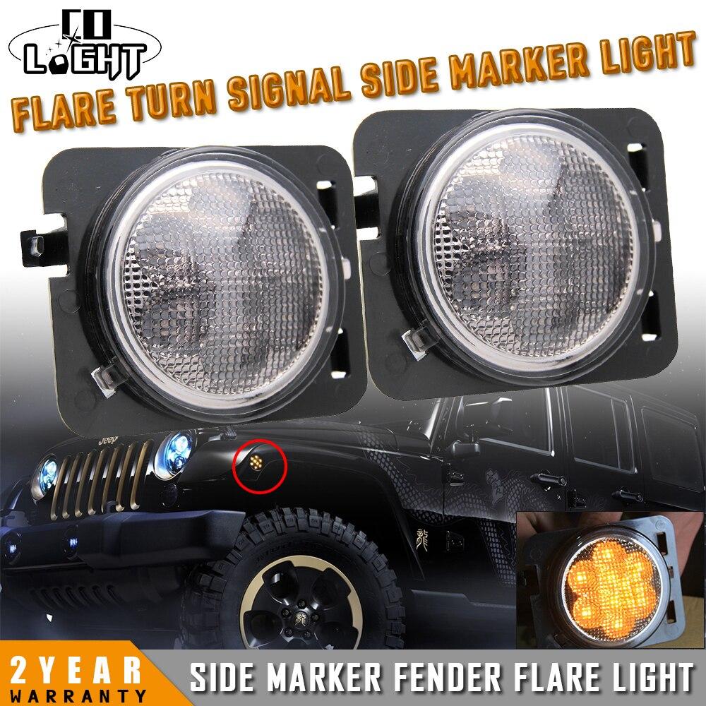 CO LUZ 2 Unidades Frente Fender Turn Señal de Luz DC 12 V Luz de Marcador latera