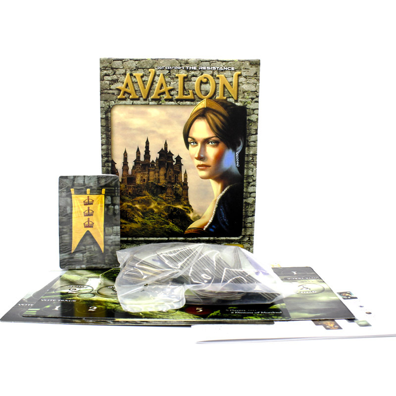 2019 New Resistance Avalon Indie Family Interactive Full English Board Game Card Children's Educational Toys