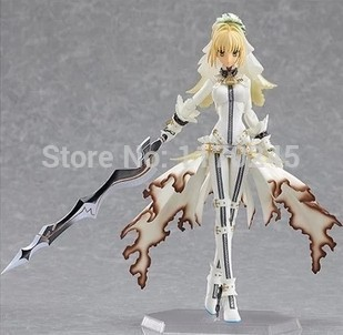 14cm/ 5.5 inch Japanese anime figma Fate Stay Night Saber Lily PVC Action Figure Collection Toys - Cartoon Queen store