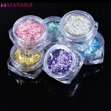 6 Boxes Marble Stone Glitter Nail Powder Dust Sequins Design 3D Art Decorations for Gel Polish Accessory FPB-08#