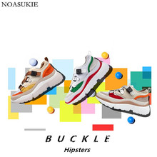New Shoes Women Chunky Sneakers Fashion Stitching Lolita Casual Shoes Buckle Bandage Mesh Platform Sneakers Basket Tenis Femme angelic imprint gothic lolita style platform shoes new fashion lolita sandals size 35 46 8276