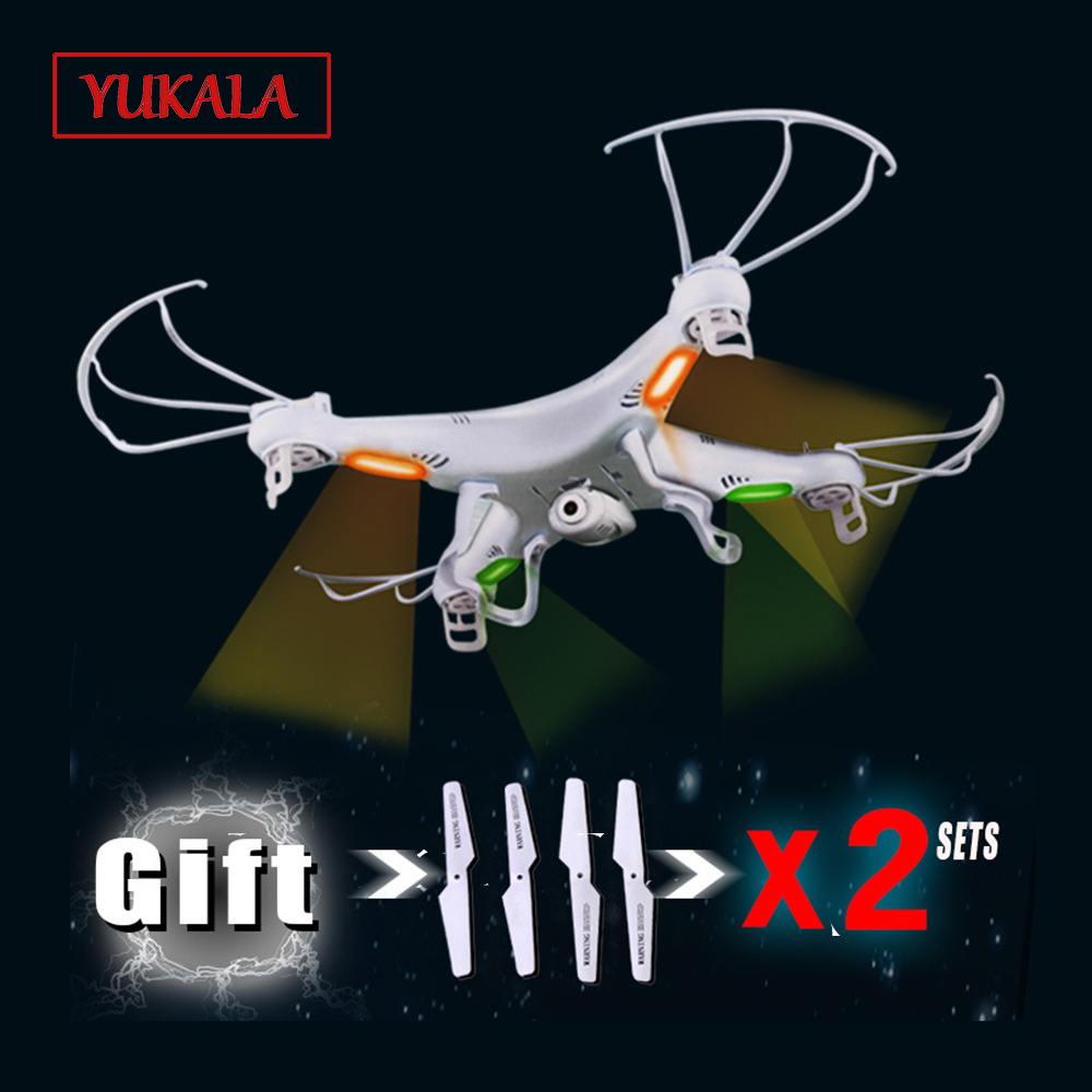 Cadeau d'activités 3 jeux de pales SYMA X5C RC hélicoptère drones 6 axes GYRO quadrirotor avec caméra 2MP HD ou X5 sans caméra