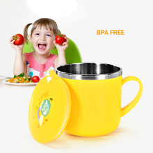 300ml Safety Cute Baby Milk Cup Cartoon Animal Kids Feeding Water Tea Mug BPA Free