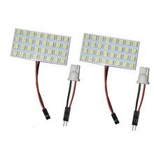2pcs T10 Ba9s Festoon Adapter 32-5050 SMD LED Light Panel Bulb White Bright DC 12 Volt