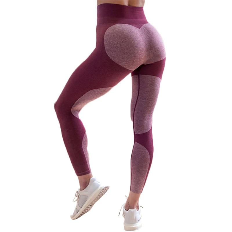 2018 Women Splice Sport Leggings Fitness Yoga Pant Leggins Gym Running Tights Sportswear Trousers Professional Sports Clothes