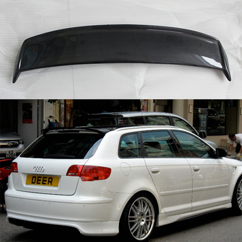 A3 8P Sportback Carbon Fiber Roof lip Spoiler Wing For Audi A3 hatchback 2009~2012 цена