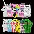 Para iphone 4 4s/5 5s/se/5c/6 6 s/6 plus 6 s plus/7 7 plus 3d bolso silício cat cupcake minnie moda macio case capa do telefone de volta
