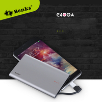 1Pcs Portable E400A Benks 4000mAh for Xiaomi Mi5 for iPhone 5 6 S 7 plus Phone Fast Charger Power Bank Wholesales