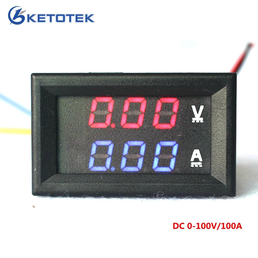 Buy Car Led Electrical Ammeter Voltmeter Ampere Automotive Wiring Diagram Digital Voltage Amp Volt Meter Dc 100v 100a Dual Tester From Reliable Suppliers