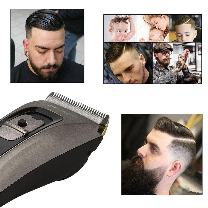 Tondeuse à cheveux à Charge rapide tondeuse à cheveux professionnelle étanche sans fil rasoir électrique tondeuse à barbe Machine de coupe de cheveux de précision - 4