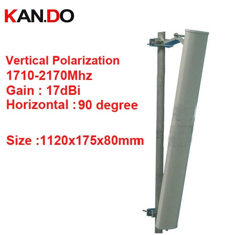 17dbi polarisation verticale 90 deg 1710-2170 Mhz panneau antenne DCS 3G antenne Base station utilisation LTE FDD antenne TDD 4G LTE