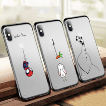 ciciber Frameless Transparent Frosted Hard Phone Cases for iphone 11 Pro Max Case iPhone 7 8 6S Plus Xs XR Animal Funda