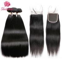 Beau Human Hair Bundles With Closure Lace Frontal Malaysia Straight Hair 2 3 Bundles With Frontal