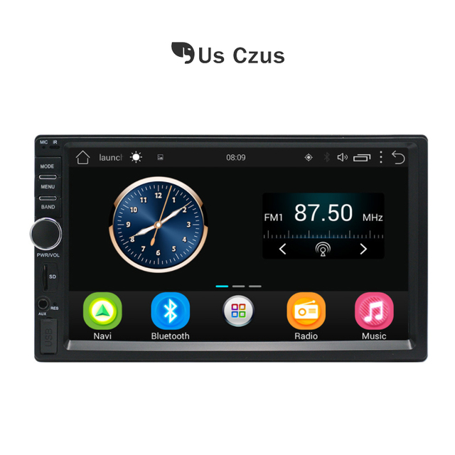 New Android 2 Din Touch Screen Car MP5 Player Bluetooth Stereo FM Radio USB/TF AUX In bluetooth control music mp5 7023b