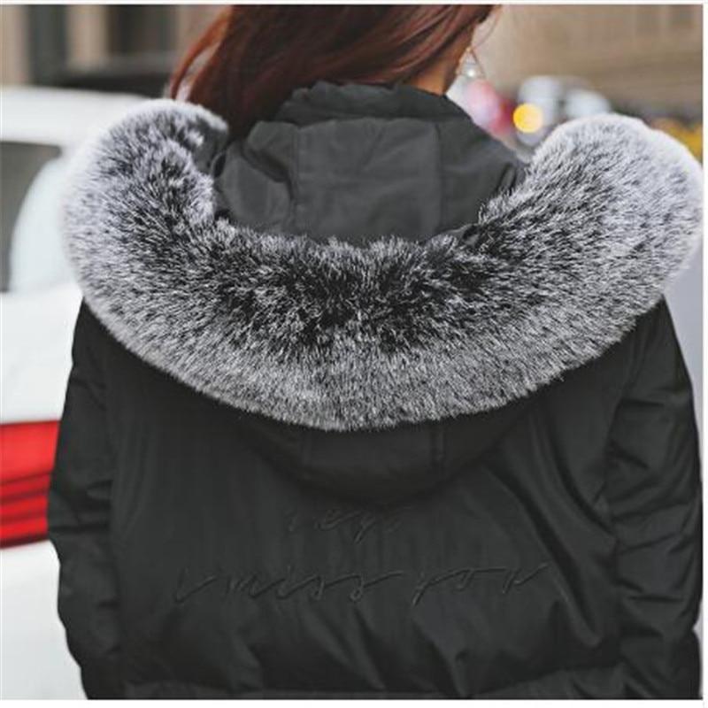 Femelle Parkas Hiver Fourrure Épaissir Qualité De D'hiver Col 1 Veste Le Chaud Manteaux Manteau 2 Long Femmes Bas Vers rembourré 2017 Coton Haute Faux cxU8YAU1qw