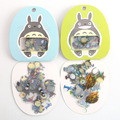 Unos 60 unids/pack Lindo Japón Animación Migazaki Totort decorativo etiqueta engomada transparente shiping libre