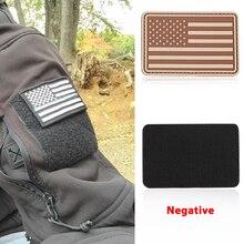 Тактическая повязка на руку Волшебная наклейка 2 цветной каучук военная одежда стикер военный тактический значок Национальный флаг США тканевая сумка