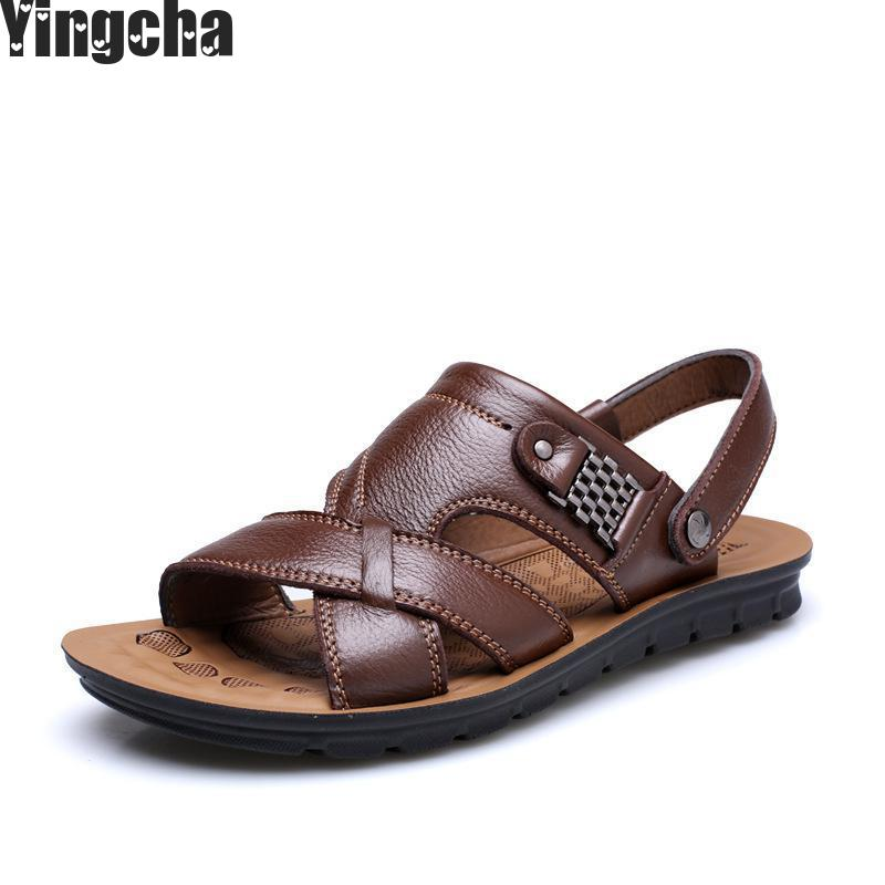 Men's Casual Shoes Fashion Sandals Summer Men's Slippers Leather Shoes Beach Breathable Home Slippers Flip-flops Zapatos Sapato hot sale natural man hemp flip flops summer breathable fashion beach sandal shoes men s casual canvas slides shoes free shipping