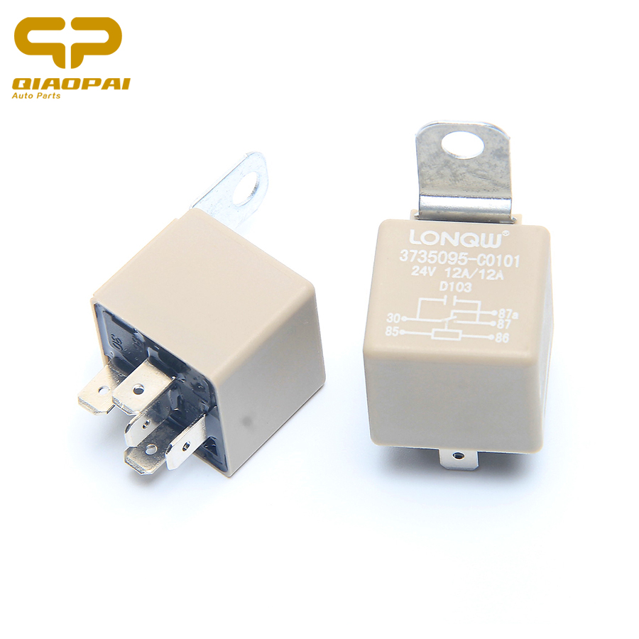 1pair Fine Quality Automotive 24V Relay 12A 5 PIN Waterproof Great Material Auto Voltage Relay For <font><b>Toyota</b></font> Camry <font><b>2007</b></font> 2008 2009 image