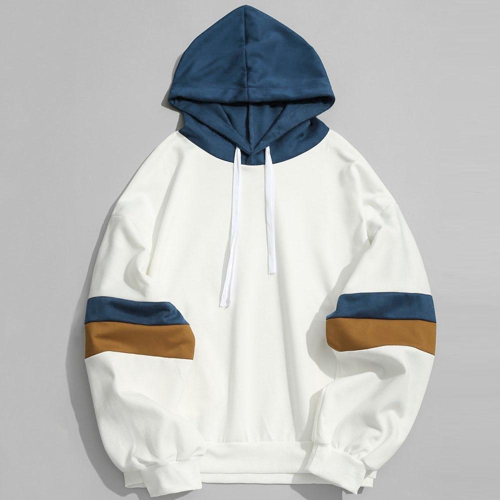 JAYCOSIN Sweatshirts Hoodies Men Autumn Casual Patchwork Sweatshirt Men Outwear Blouse Hooded Hoodie sudadera hombre 19JUL23
