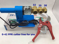 Free Shipping constant temperature electronic PPR Pipe Welding Machine 220V 600W 20 32mm welding machine to weld plastic pipe
