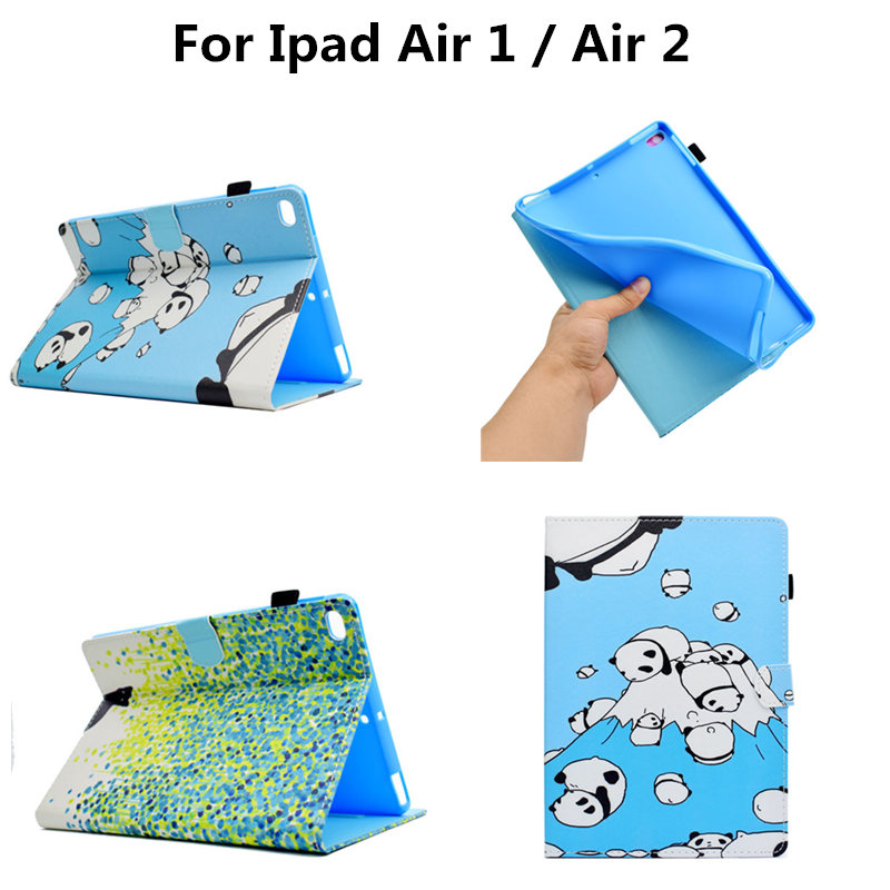Fashion Cute Shockproof Flip Smart Stand PU Leather case For Apple ipad air 2 ipad6 Cover For ipad Air 1 ipad5 Soft TPU Shell fashion yb for apple ipad air 2 air2 flip pu leather case cover cute tower tablet stand case with card holder for apple ipad 6