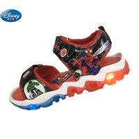 Kinder weiche sandalen 2018 mit LED licht schuhe Sommer kinder sport Strand schuhe Europa größe 26 31|kids sandals|sandals spidermankids shoes sandals -
