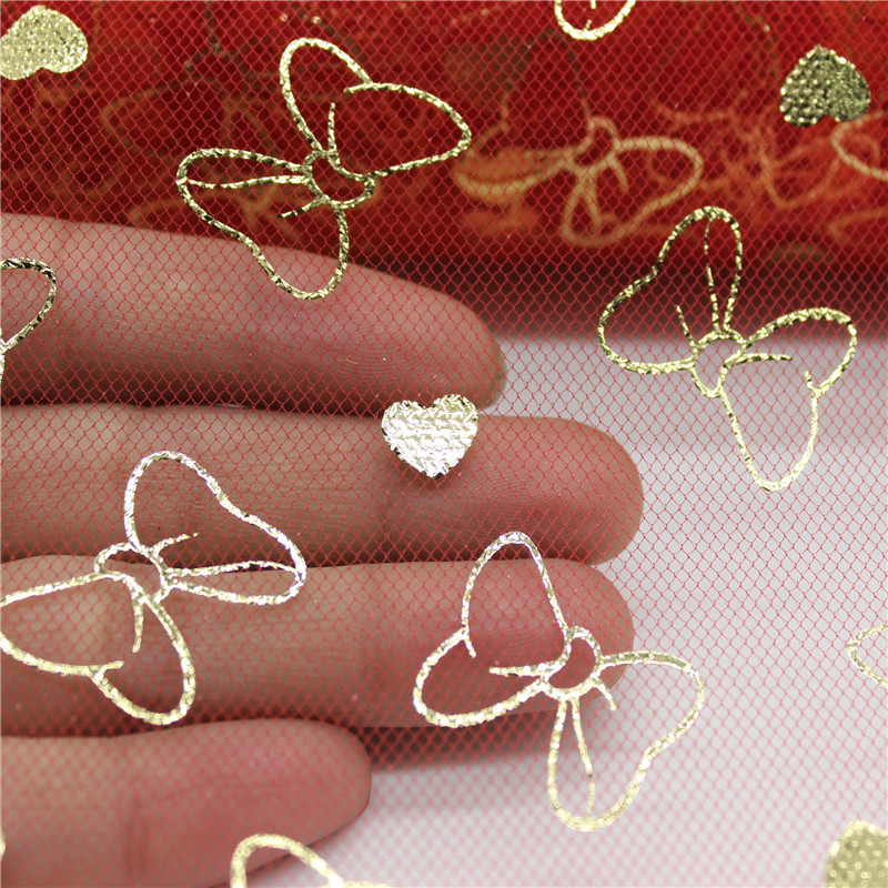 Bowknot Heart Glitter Sequin Tulle Roll 10 Yards 15cm Spool Tutu Wedding Deco Organza Laser DIY Craft Birthday Party Supplies in Party DIY Decorations from Home Garden