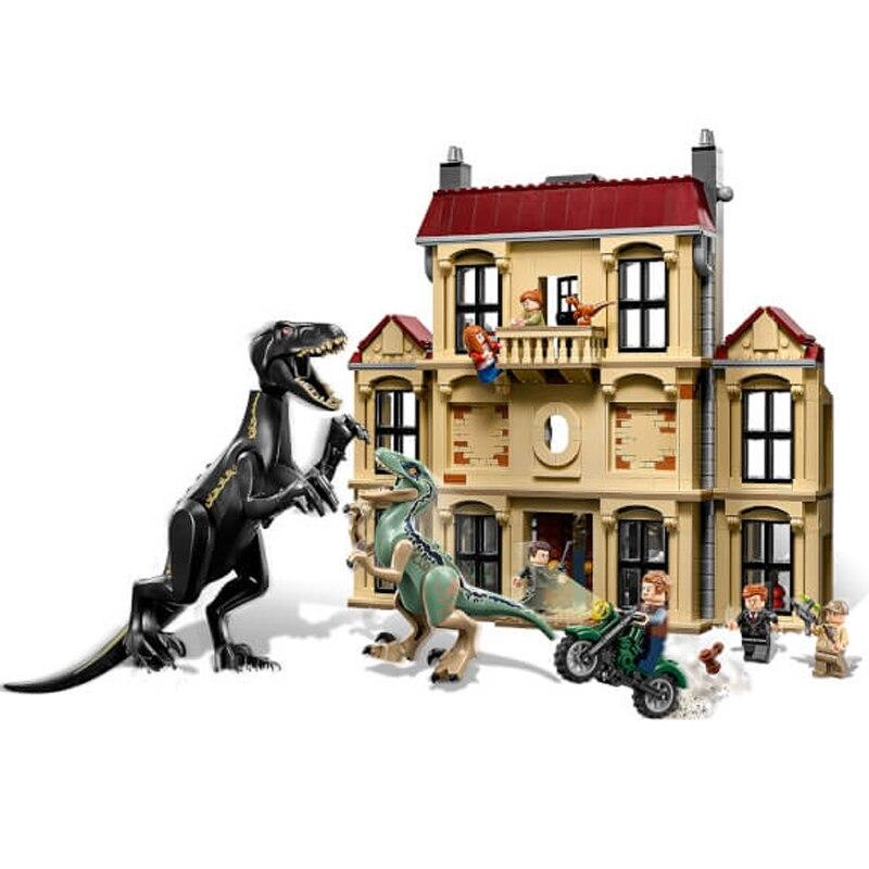 10928 Jurassic monde dinosaure blocs de construction Lockwood Estate fingure briques compatibles 75930 jouets pour enfants cadeau