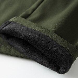 Image 5 - Hommes polaire tactique Stretch pantalon hiver décontracté chaud Cargo pantalon militaire SoftShell travail pantalon épais chaud imperméable pantalon