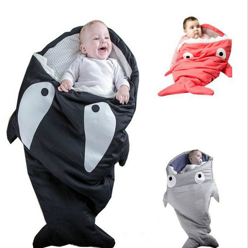 2017 Baby Swaddle Wrap Soft Shark For Baby Blanket Swaddle