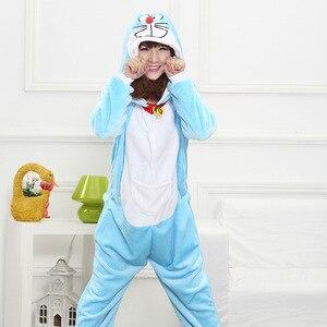 Image 3 - Hksng Doraemon Bộ Đồ Ngủ Mùa Đông Người Lớn Unisex Động Vật Anime Mèo Halloween Onesies Trang Phục Hóa Trang Kigu Đảng Pyjamas Kigu