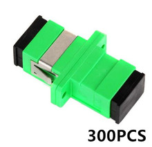цена на 300PCS SC APC connector adapter SC Connector Fiber Optic Adapter,flange Fiber Optic Connector Simplex Single mode Plastic