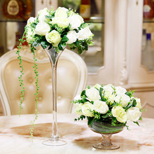 Creativity Glass Vase Wedding road leader transparent Tall vase Tabletop terrarium glass containers creative decoration
