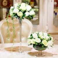 Creativity Glass Vase Wedding road leader transparent Tall vase Tabletop terrarium glass containers creative vase decoration