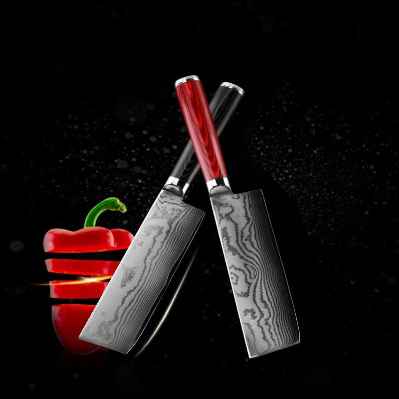 free shipping LD Brand 7 inch Damascus font b knife b font chef font b knife