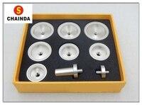 O Envio gratuito de 1 Conjunto Moldura Relógio Morre para Rlx e Tudr Relógios 9 pcs Die Kit|watch case press tool|press tool|case press -